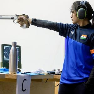 Indian shooters compete in Olympic trials in Delhi