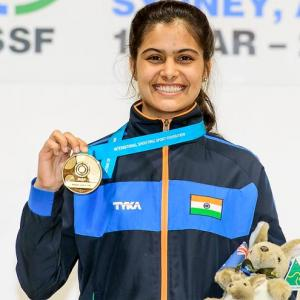Bhaker claims India's first ever gold in shooting at Youth Oly