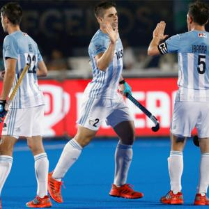 World Cup PIX: Olympic champions Argentina, NZ score hard-fought wins