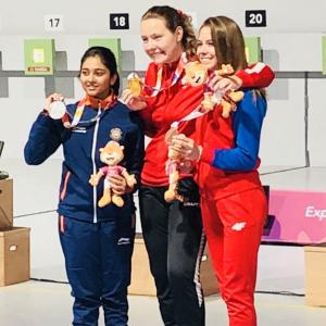 Youth Olympics: Shooter Mehuli settles for silver in 10m air rifle
