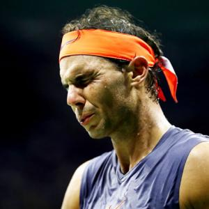 PHOTOS: The many expressions of Nadal, Thiem during their thrilling US Open quarters