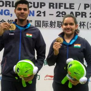 Golden day for India at shooting World Cup