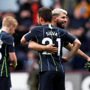 EPL PIX: City get nervy win at Burnley; Arsenal lose
