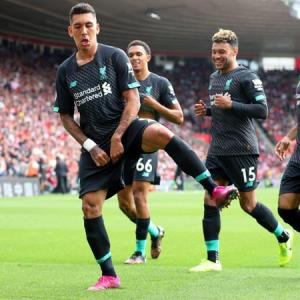 EPL PIX: Arsenal sink Burnley; Liverpool down Saints
