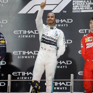 Hamilton ends the F1 season in style in Abu Dhabi