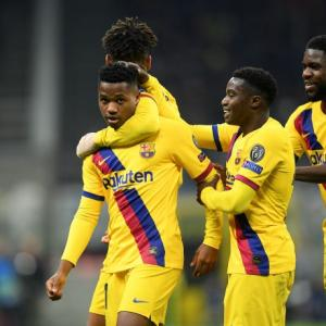 Champions League PIX: Barca knock Inter; Ajax ejected