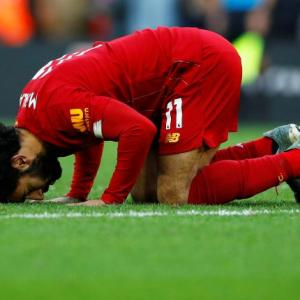 EPL PICS: Salah double helps Liverpool sink Watford