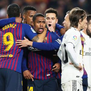 King's Cup: Malcom rescues draw for Barcelona in Clasico