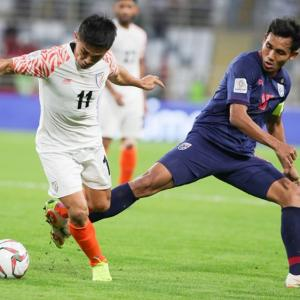 Asian Cup: Chhetri strikes twice, goes past Messi