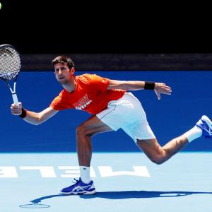 Australian Open practice: Djokovic gives Murray reality check