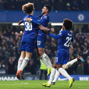 PHOTOS: How lucky Chelsea reached League Cup final
