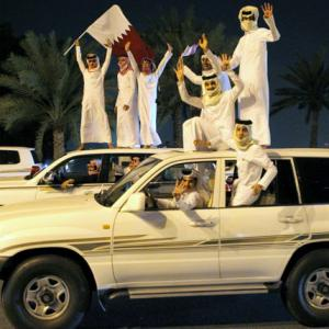 UAE ban fails to dampen celebrations for triumphant Qatari fans
