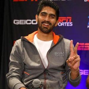 Vikas and Neeraj's open challenge to Vijender