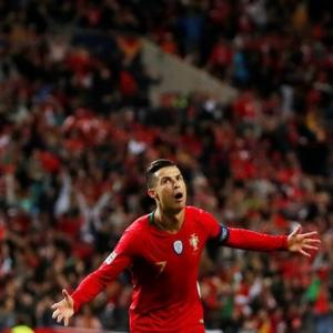 PICS: Ronaldo 'trick' sends Portugal to Nations final