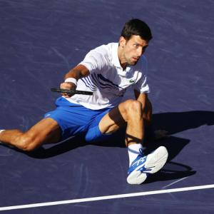 Indian Wells PIX: Djokovic, Osaka Halep crash out