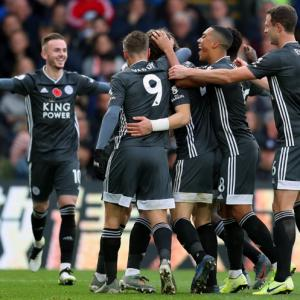 EPL: Leicester back in third after win at Palace