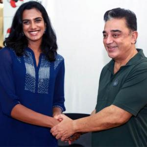 When World champion Sindhu met superstar Kamal Haasan