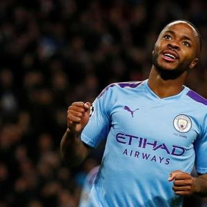 Champions League PIX: Sterling, Mbappe net hat-tricks