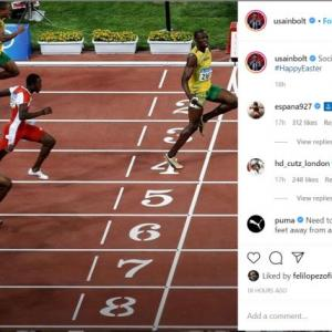 Bolt's lesson on social distancing