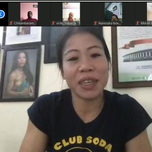 Mary Kom conducts online session for boxers