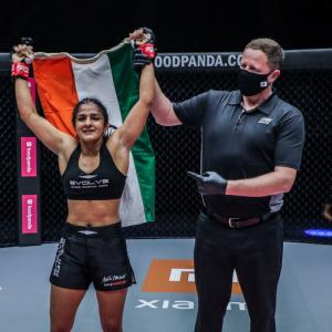 Ritu Phogat maintains unbeaten record in MMA