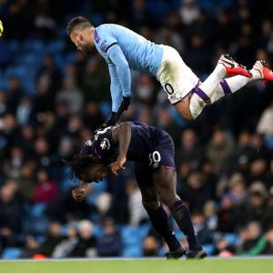 EPL: City see off West Ham as fans take aim at UEFA