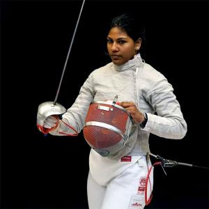 Lockdown: Fencer Bhavani practices with kitbag