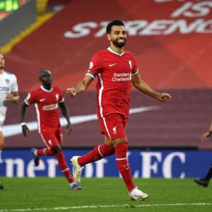 EPL PHOTOS: Salah tricks as Reds down impressive Leeds