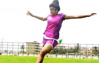The girl who ran away from home to play football