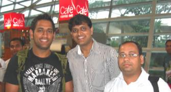 Spotted: Mahendra Singh Dhoni at Mumbai airport