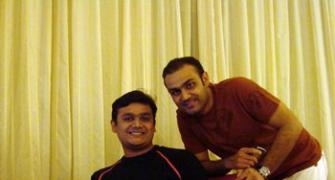 Spotted: Virender Sehwag in Bangalore