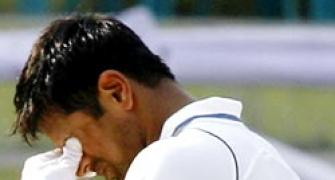 Dravid in hospital after fracturing jaw