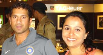 Spotted: Sachin Tendulkar at Mumbai airport