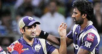 Gambhir, Balaji star in KKR's first win in IPL 5