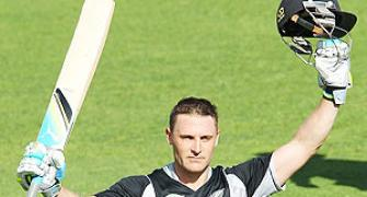 McCullum blazes ton as New Zealand trounce Zimbabwe