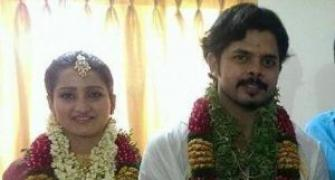 Sreesanth weds Rajasthan's royal in Kerala
