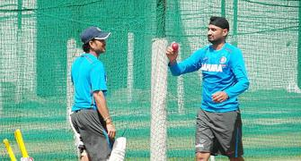 PHOTOS: Harbhajan turns to old friend Sachin for help