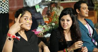 IPL PHOTOS: Sakshi, Purva prove girls just wanna have fun!
