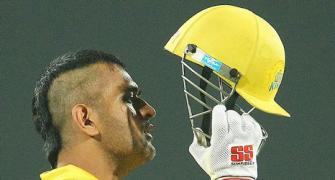 Dhoni goes mohawk! Do you like his new look?