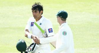IN PIX: Misbah emulates Richard's record of fastest Test century