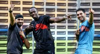 Usain Bolt wows Bangalore with the bat