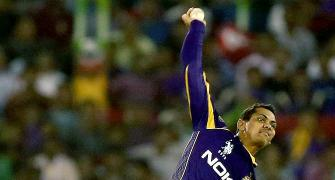 KKR's mystery spinner Narine reported for suspect action in CLT20
