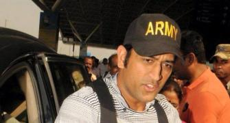 Dhoni's daughter Ziva grabs attention at Ranchi airport