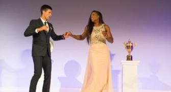 Champions Djokovic, Serena show off their footwork at Wimbledon ball