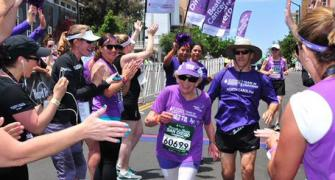 She is 92, a cancer survivor and she has now run into record books!