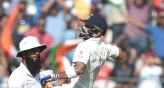 Run-machine Kohli matches Gavaskar, Dravid in record books