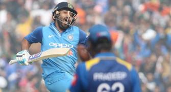 2nd ODI: Ruthless Rohit double ton leads India to series-levelling win