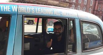 Look who was spotted in a London cab!