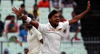 1st Test: Pacer Lakmal rocks Indian top order on rain-hit day