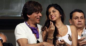 PHOTOS: SRK, daughter Suhana cheer for KKR at Eden